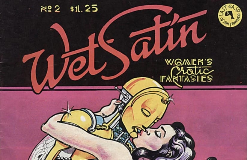 erotic vintage comics, wet satin