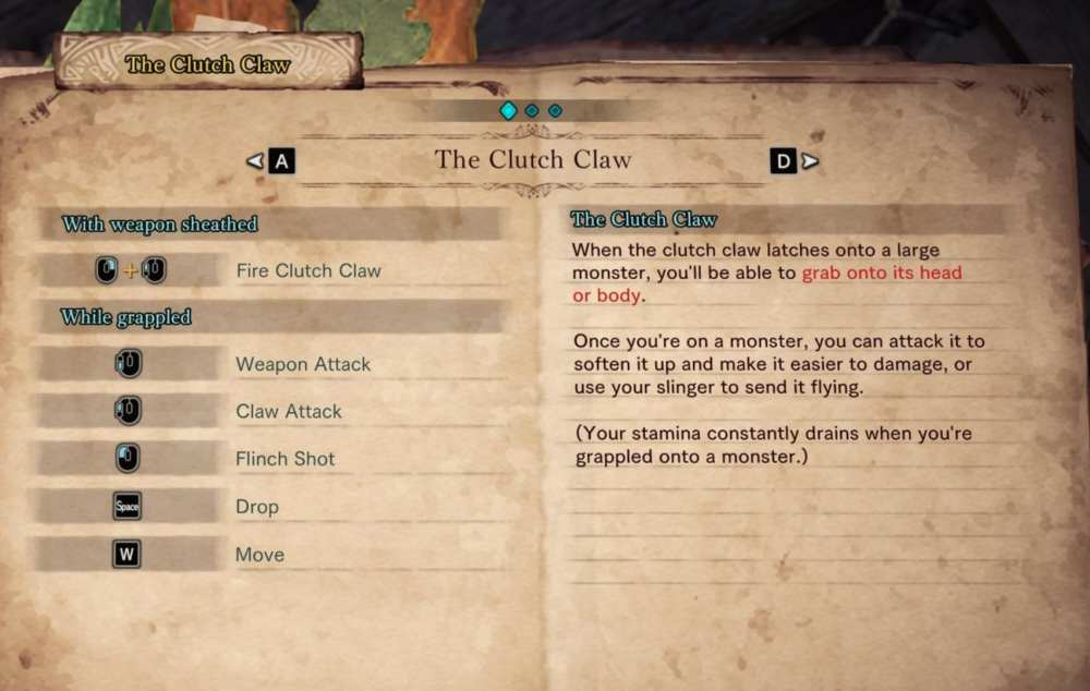 how to use clutch claw on PC, iceborne, monster hunter