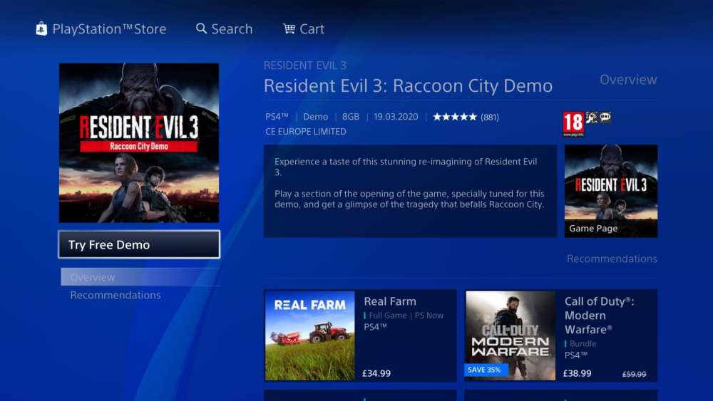 How to download resident evil 3 demo on ps4 xbox one pc