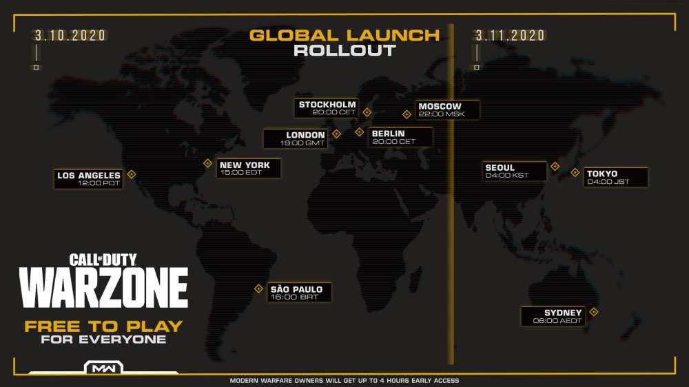 modern warfare, warzone, unlock times
