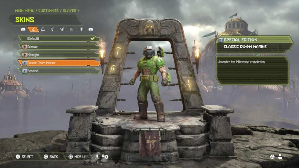 doom eternal, change appearance, skins