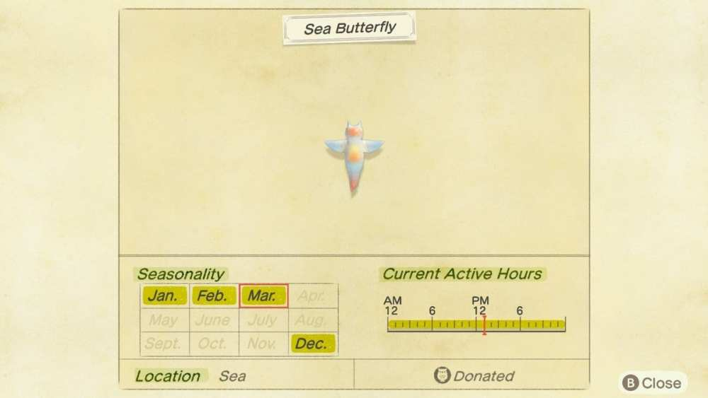getting sea butterfly animal crossing new horizons