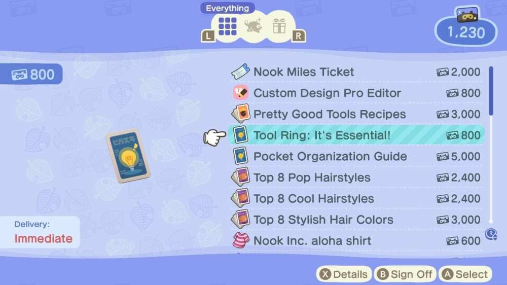 how to get the tool wheel in animal crossing new horizons