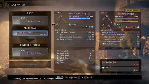 Nioh 2 Weapon Familiarity