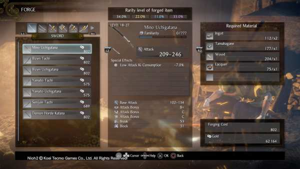 Nioh 2 How to Forge Materials