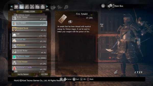 Nioh 2 Ninja Onmyo Skill Points Amulet
