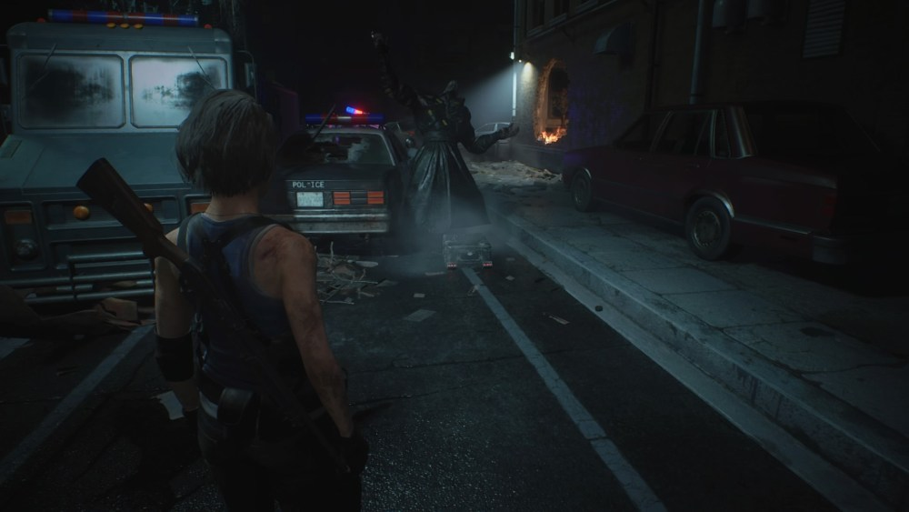 Nemesis Dropping a STARS Supply Crate in Resident Evil 3