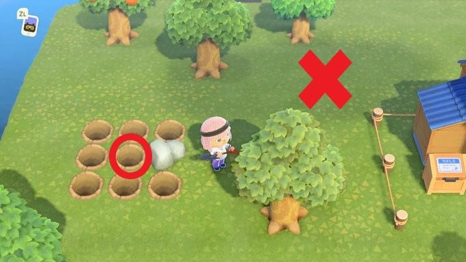 animal crossing new horizons tree spacing