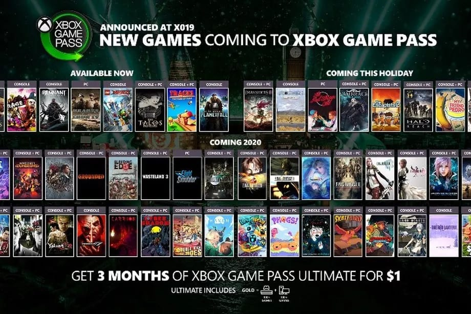 ps now, xbox game pass