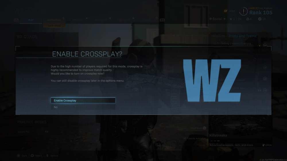 warzone, turn off crossplay