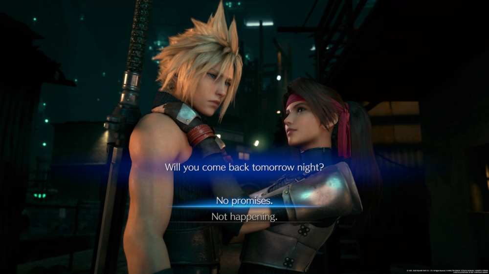 jesse final fantasy 7 remake date, no promises, not happening, what to say