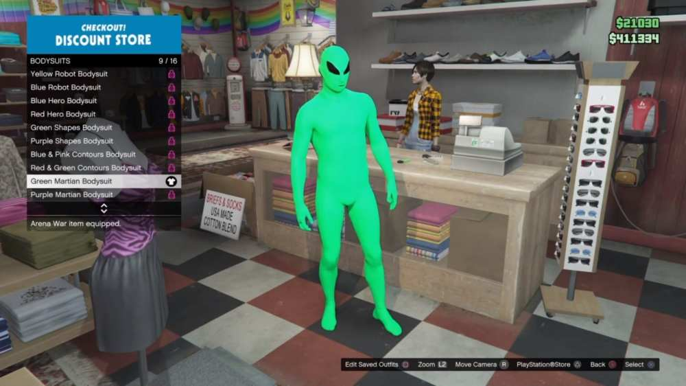 gta online alien suit