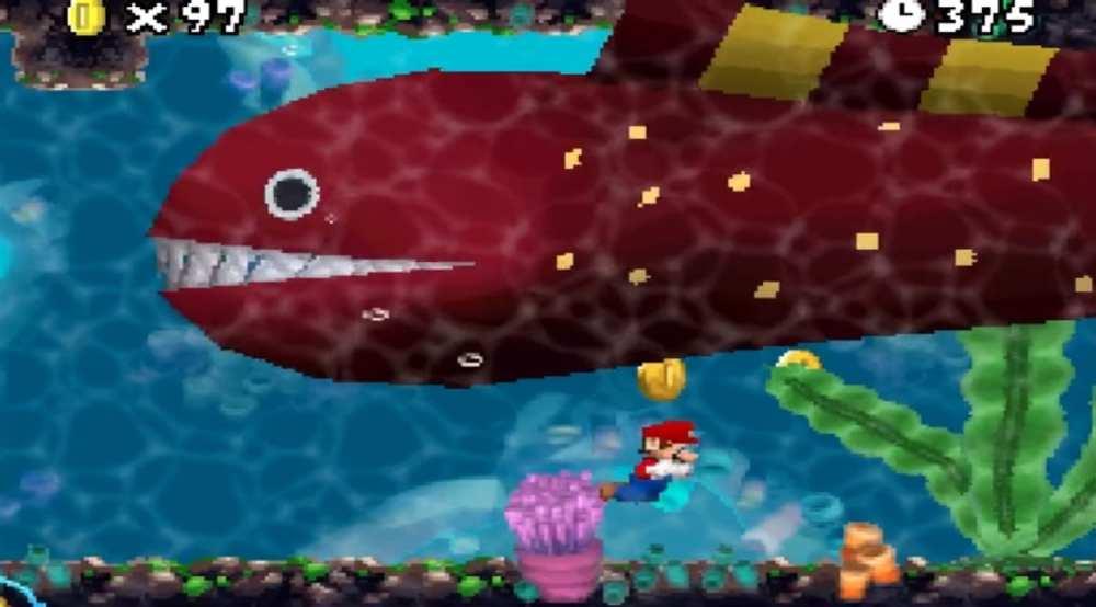 New Mario Bros eel