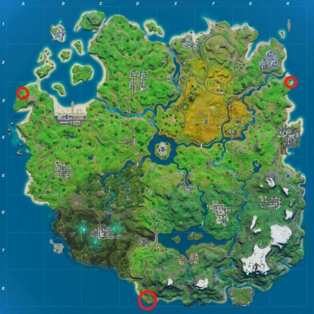 Skye's Coastal Campsite Locations in Fortnite