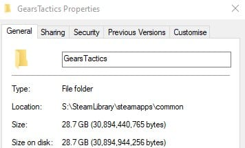 Gears tactics install size