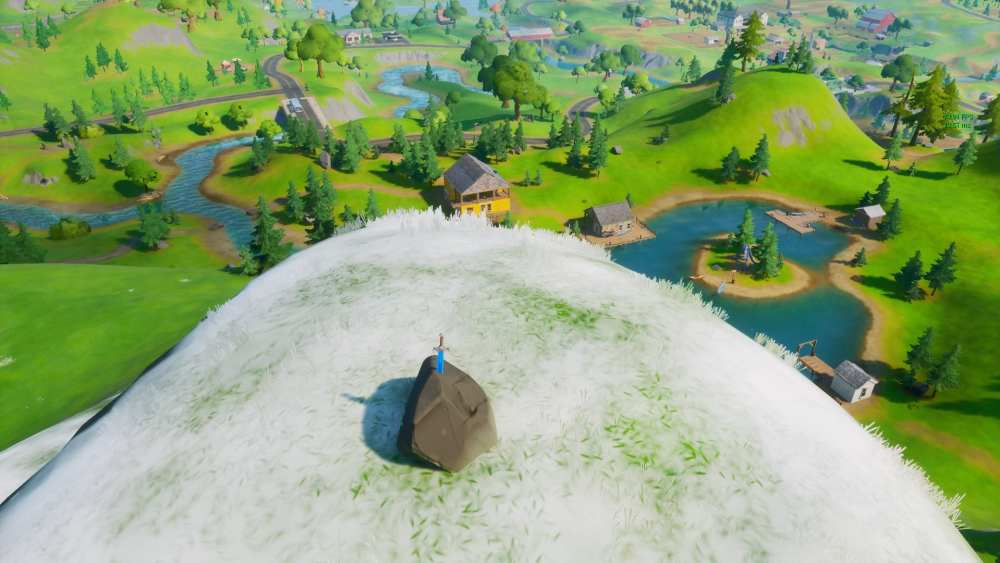 fortnite skye's sword in a stone in high places locations