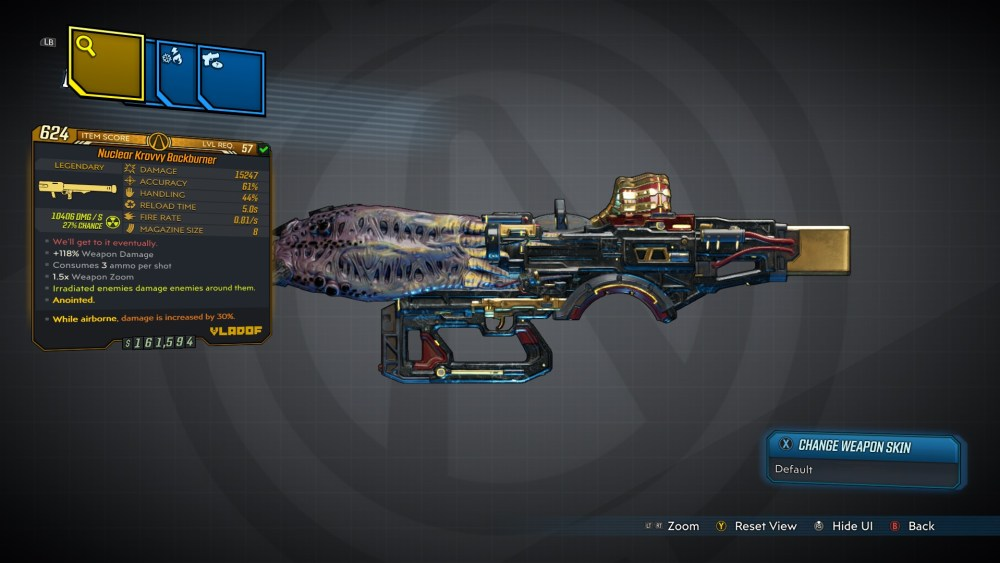Backburner Legendary Rocket Launcher