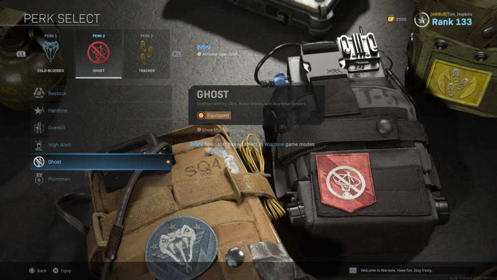 warzone, ghost perk