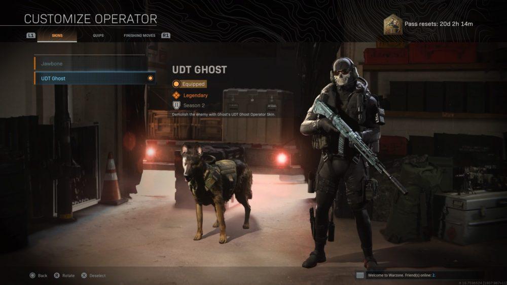 warzone, ghost skins