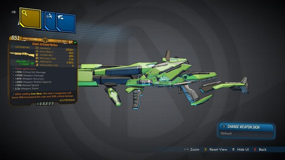 Reflux Legendary Shotgun
