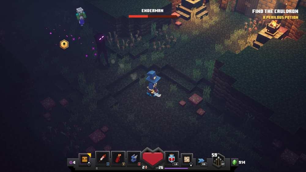 minecraft dungeons endermen