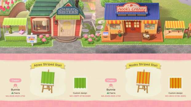 Able Sisters and Nook's Cranny Stalls