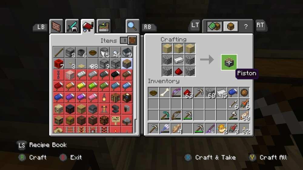 como hacer pistones en minecraft