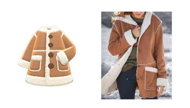 Faux-Shearling Coat