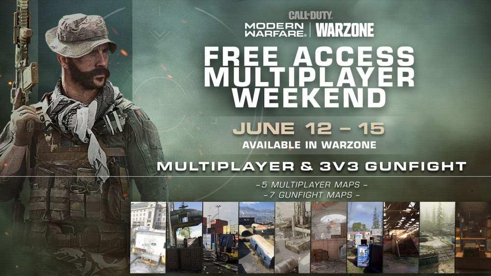 modern warfare, free weekend