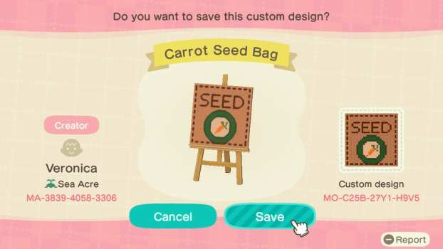 Carrot Seed Bag
