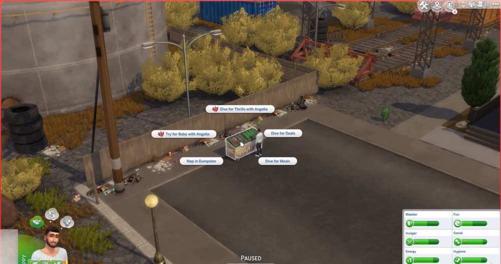 dumpster diving in sims 4 eco lifestyle