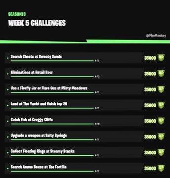 Fortnite week 5 challenges