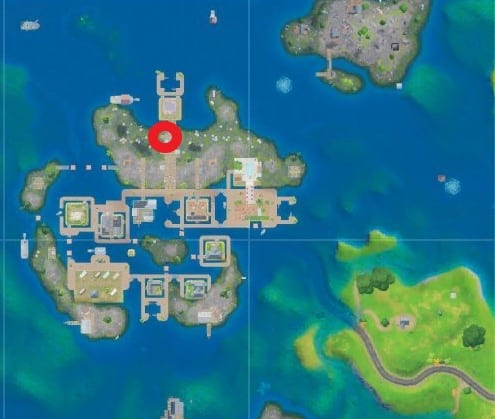 where to dance in front of a camera at sweaty sands in Fortnite