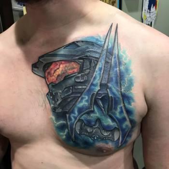 best halo tattoos, Coolest Halo Tattoos