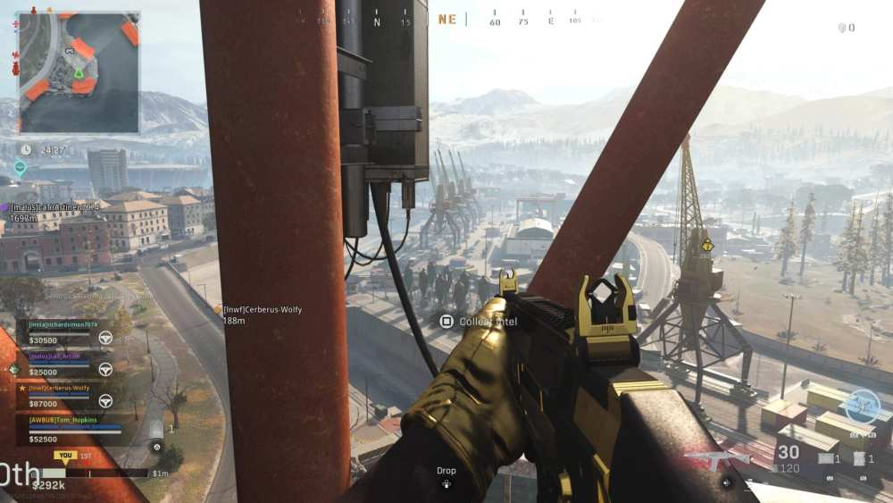 warzone, lost team intel