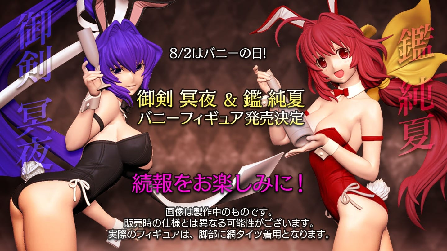 Muv-Luv Meiya & Sumika Bunny Woman Figures Prototypes Revealed by FREEing 1