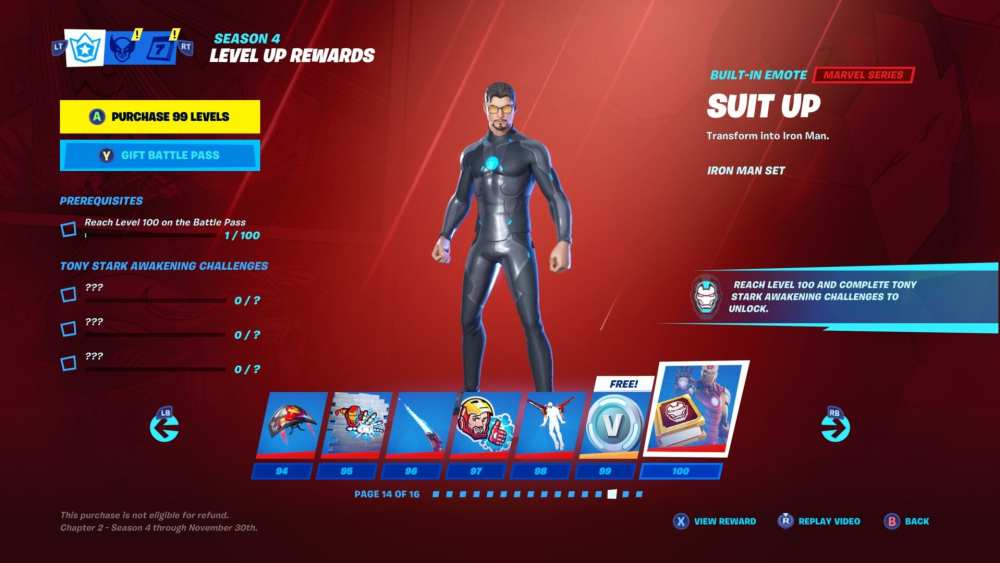 Fortnite Chapter 2 What The Tier 100 Skin Looks Like Season 4