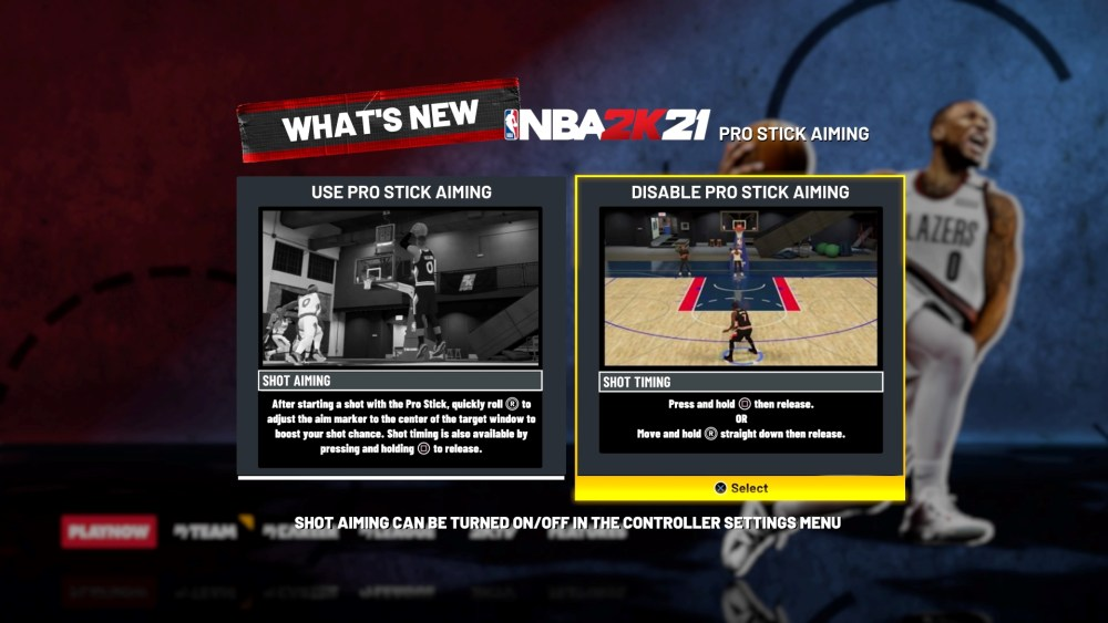 NBA 2K21 Pro Stick Aiming