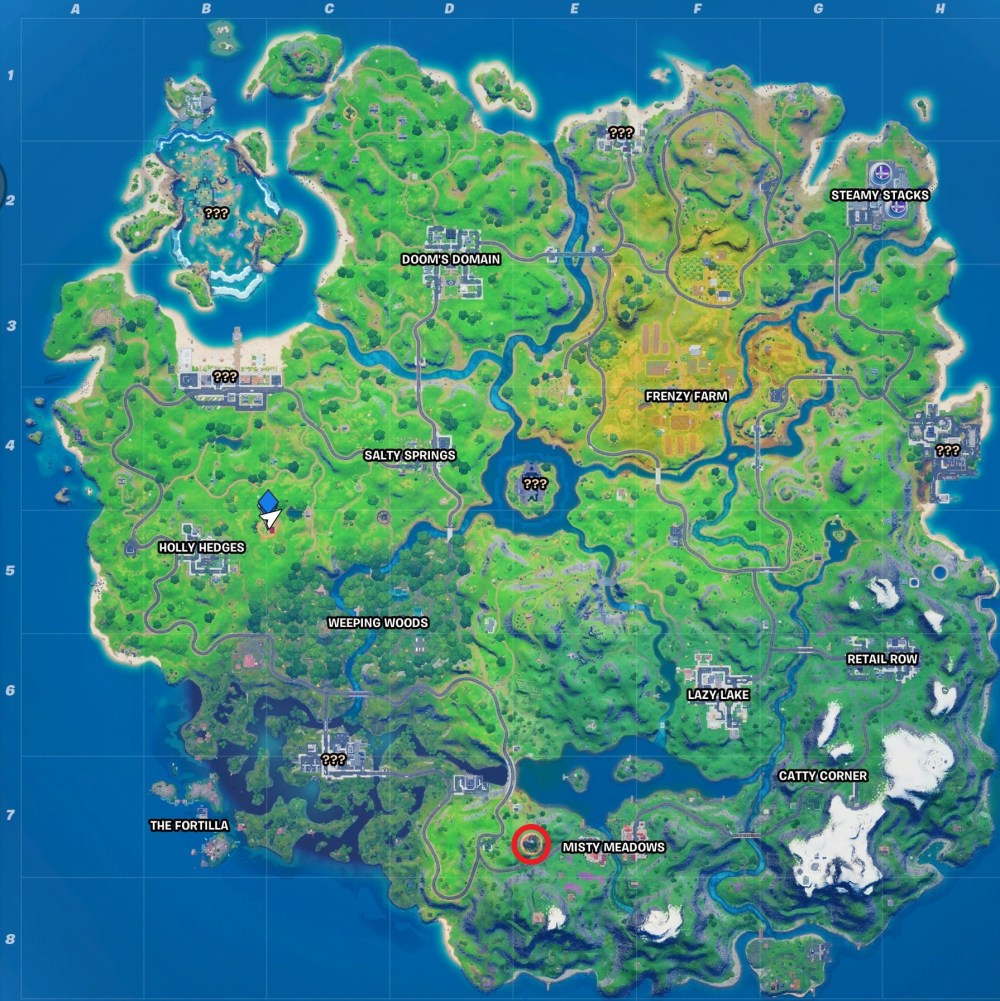 fortnite panther's prowl map location