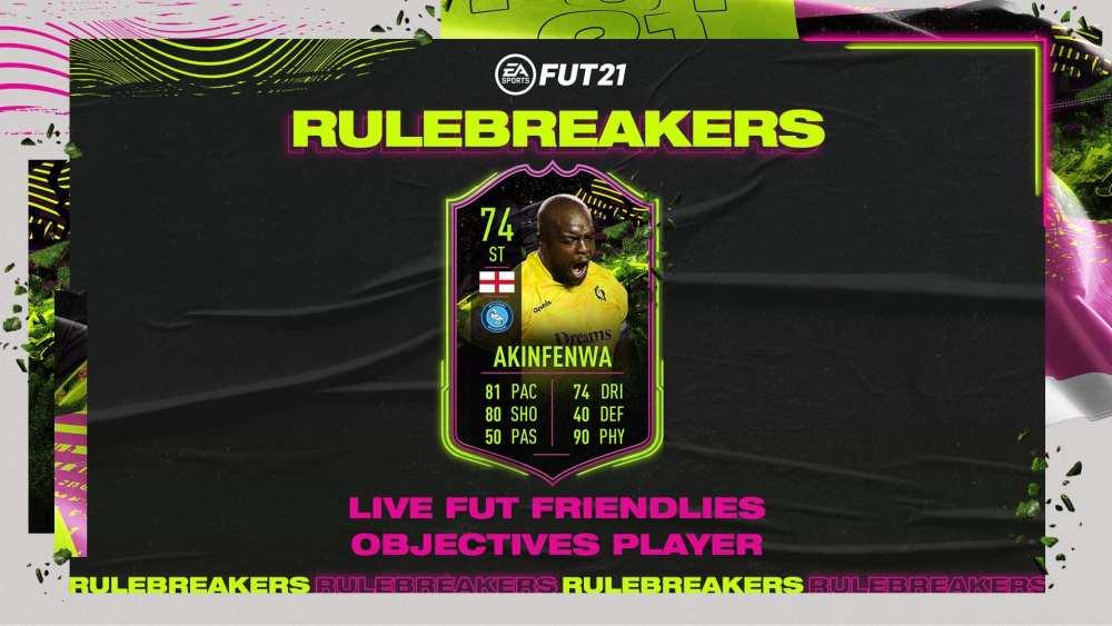 fifa 21, rulebreakers akinfenwa objectives