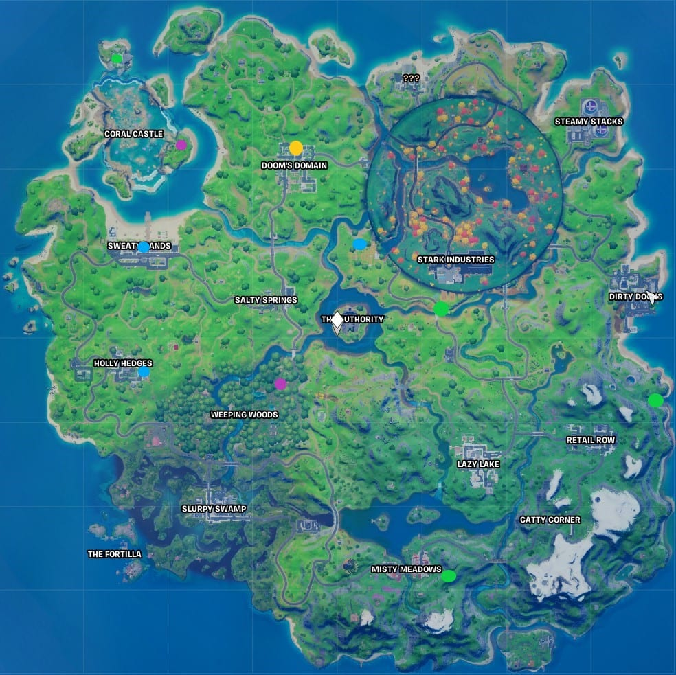 all coin locations fortnite
