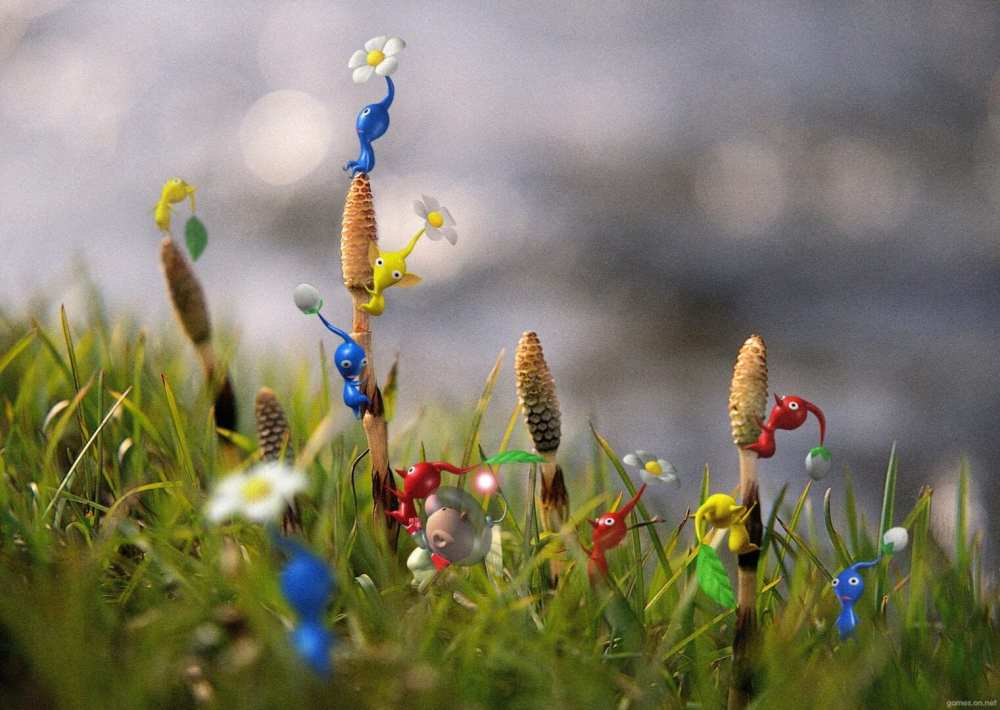 pikmin in field