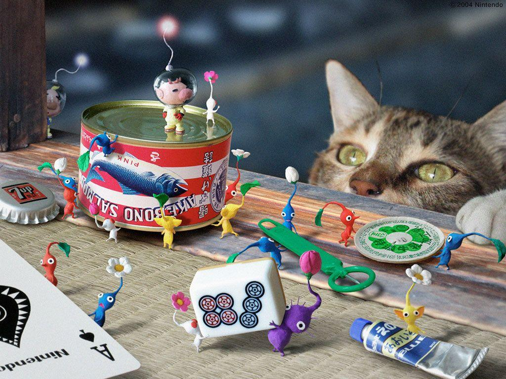 pikmin with cat