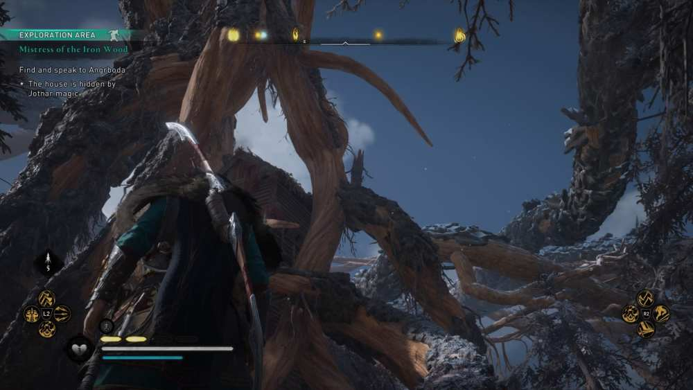 Here's an Assassin's Creed Valhalla Mistress of the Iron Wood walkthrough if you need help with how to find and speak to Angrboda.