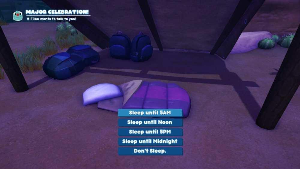 Bugsnax sleep pass time