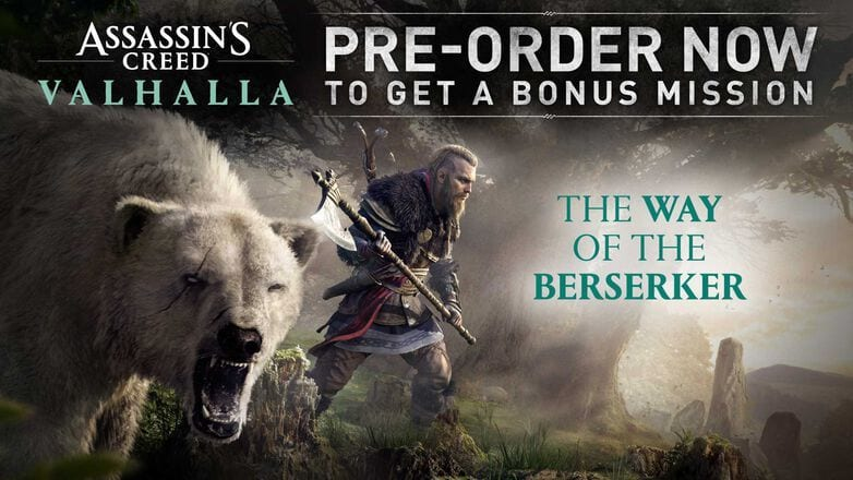 assassin's creed valhalla way of the berseker dlc. assassin's creed valhalla preorder dlc