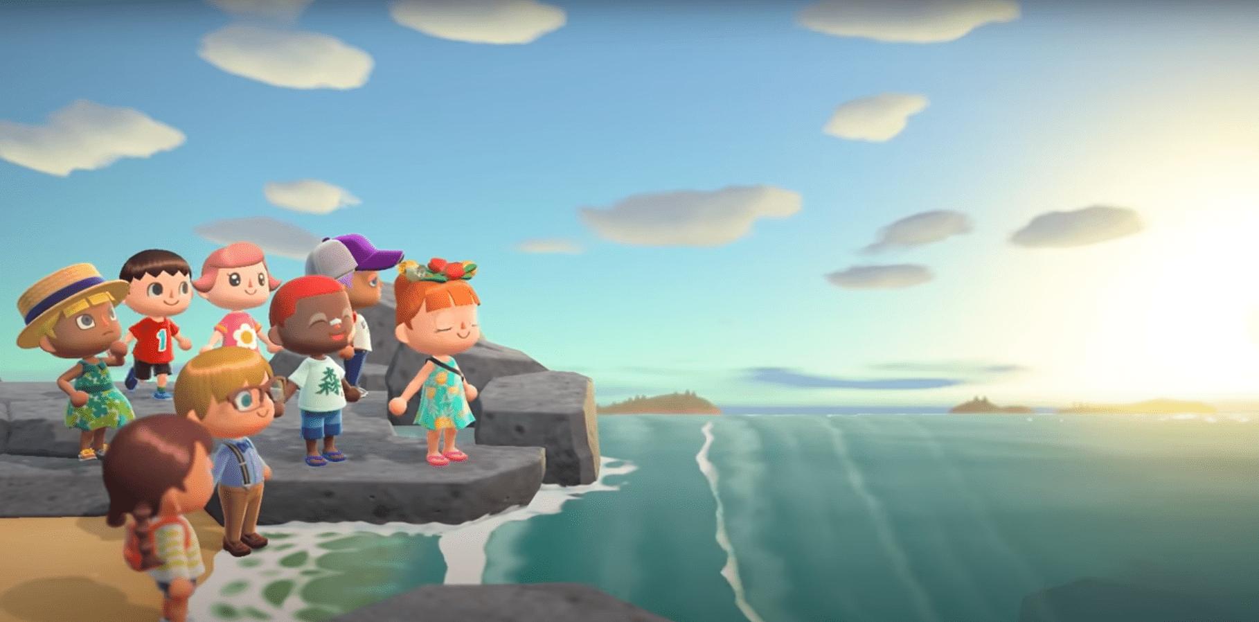 Animal Crossing relaxing ocean