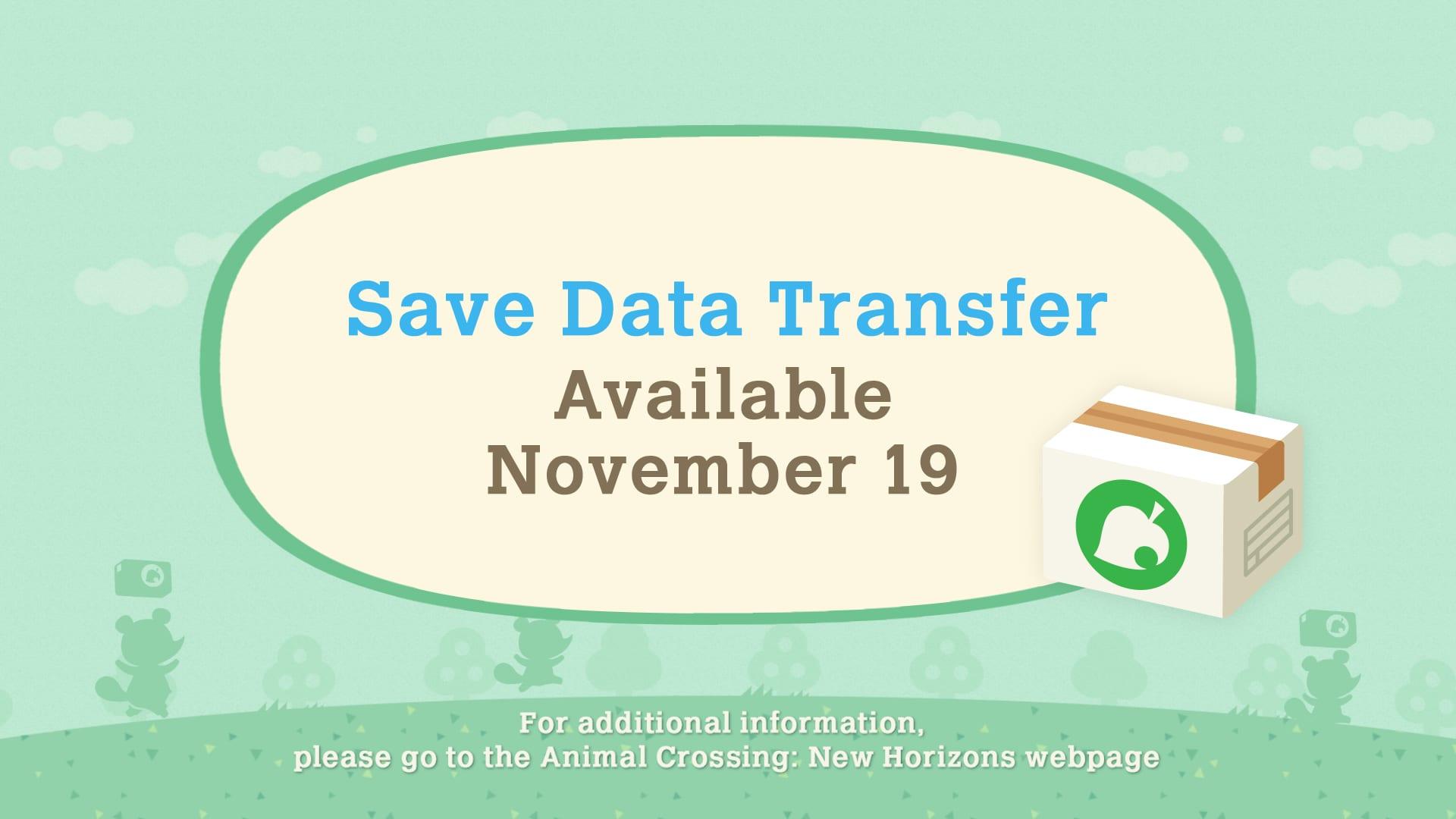 save data transfer