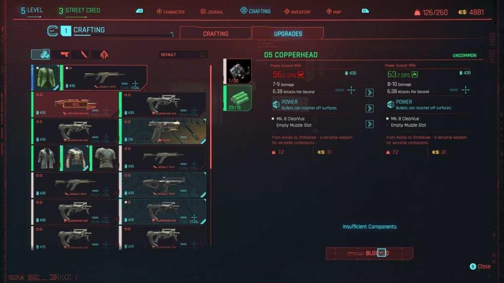 cyberpunk 2077 mod weapons