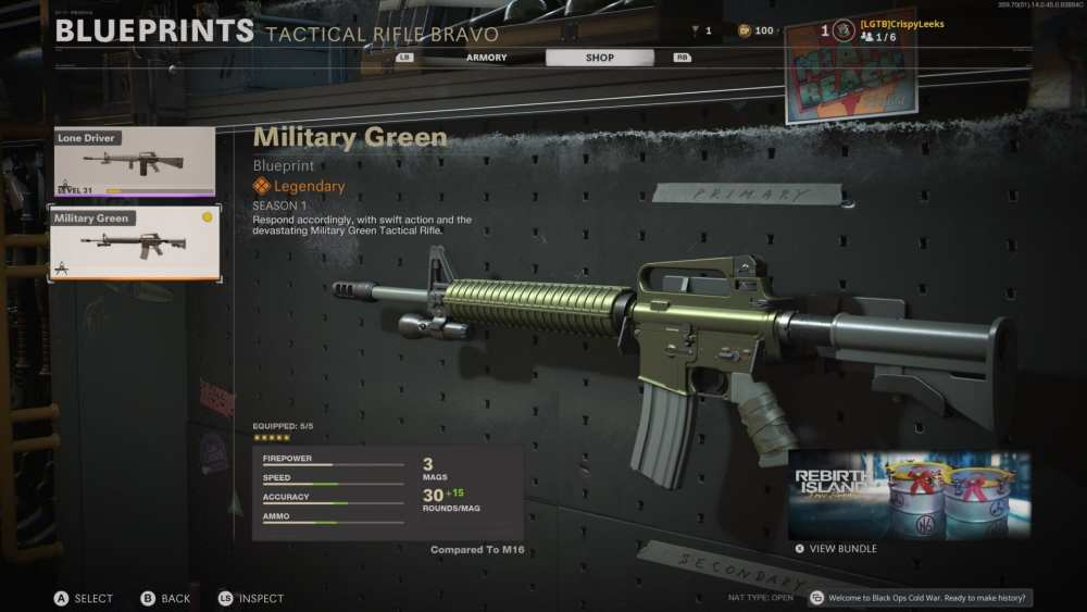 military green m16